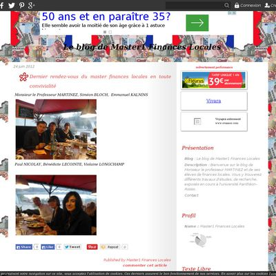 Le blog de Master1 Finances Locales