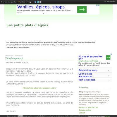 Les petits plats d'Agnès