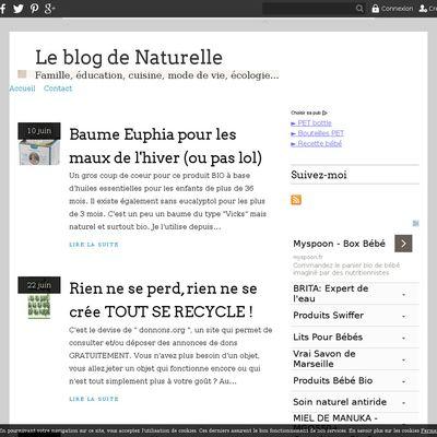 Le blog de Naturelle