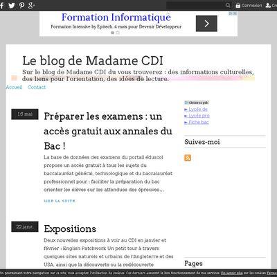 Le blog de Madame CDI