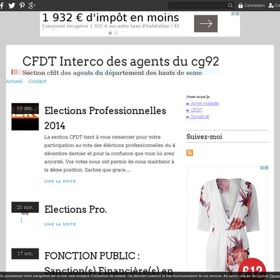 CFDT Interco des agents du cg92