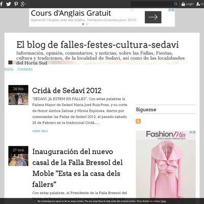 El blog de falles-festes-cultura-sedavi