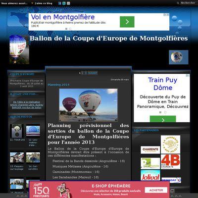 Le blog de Coupe d'Europe de Montgolfières