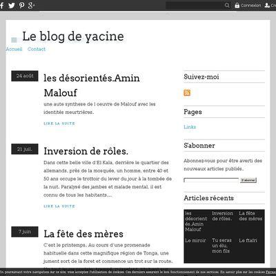 Le blog de yacine