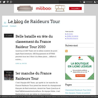 Le blog de Raideurs Tour