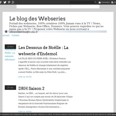 Le blog des Webseries