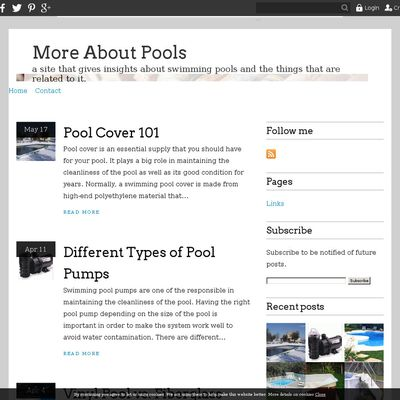 More About Pools