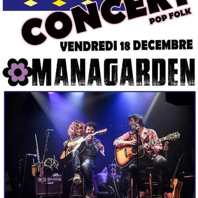 Vendredi 18 decembre: Managarden live au Pick Clops - Paris