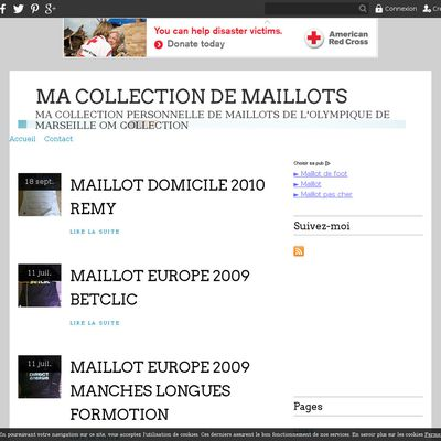 MA COLLECTION DE MAILLOTS