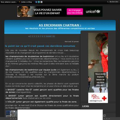 Le blog de AS Erckmann Chatrian