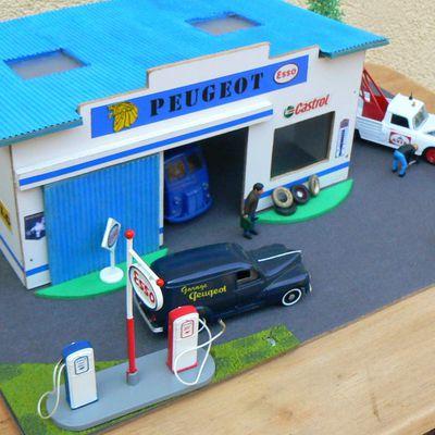 maquettes de garages et stations-service