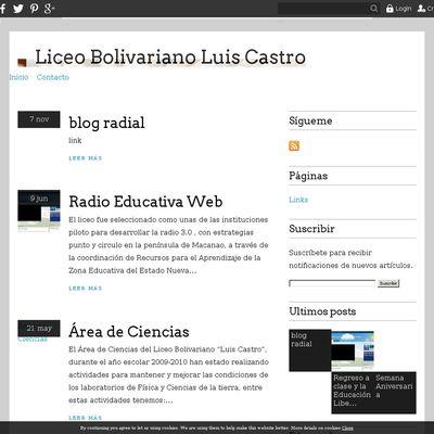 Liceo Bolivariano Luis Castro