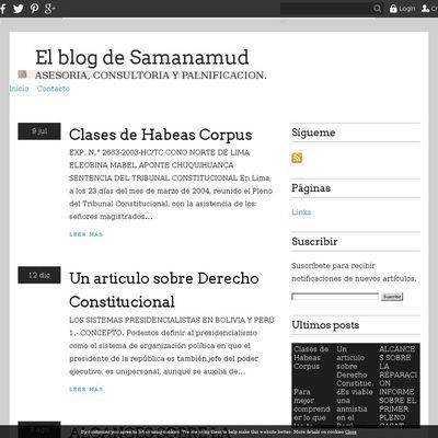 El blog de Samanamud