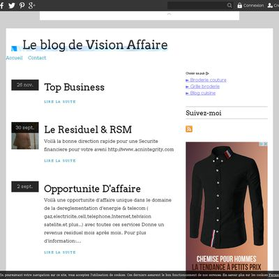 Le blog de Vision Affaire
