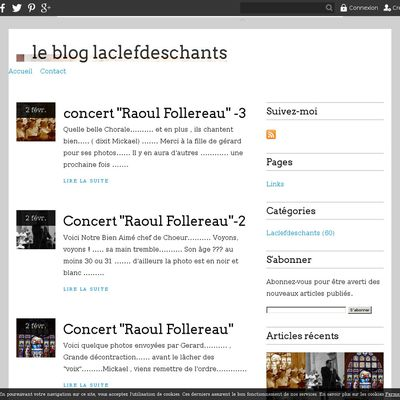 le blog laclefdeschants