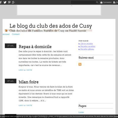 Le blog du club des ados de Cusy