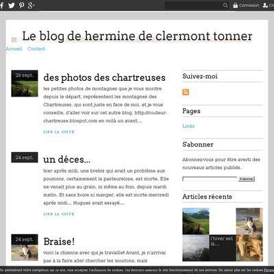 Le blog de hermine de clermont tonnerre