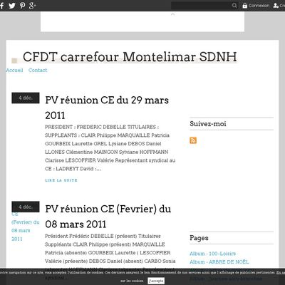 CFDT carrefour Montelimar SDNH