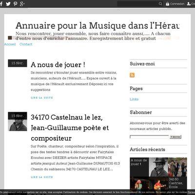 Annuaire pour la Musique dans l'Hérault