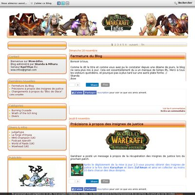 World Of Warcraft Infos.