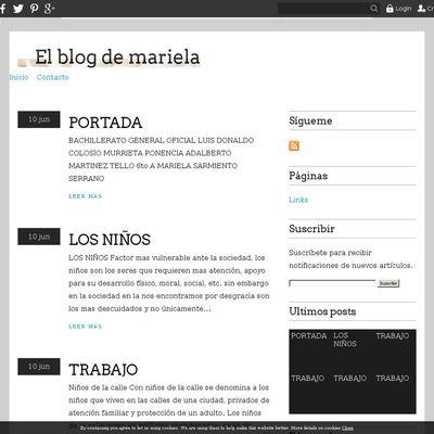 El blog de mariela