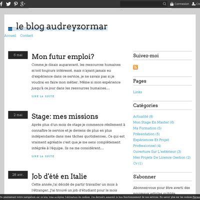 le blog audreyzormar
