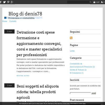Blog di denis78