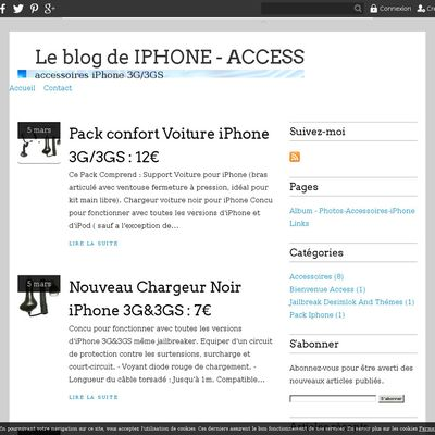 Le blog de IPHONE - ACCESS
