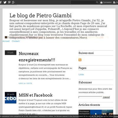 Le blog de Pietro Giambi