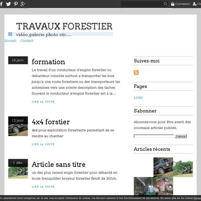 TRAVAUX FORESTIER