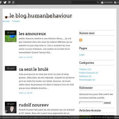le blog humanbehaviour