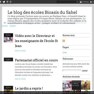 Le blog des écoles Bioasis du Sahel