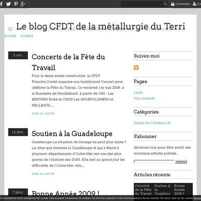 Le blog CFDT de la métallurgie du Territoire de Belfort