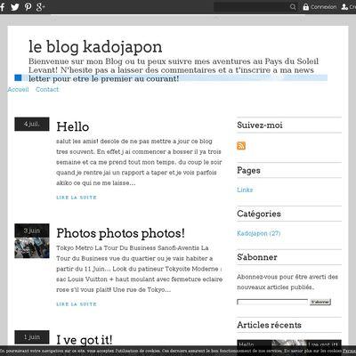le blog kadojapon