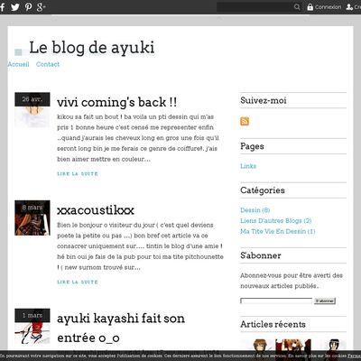 Le blog de ayuki