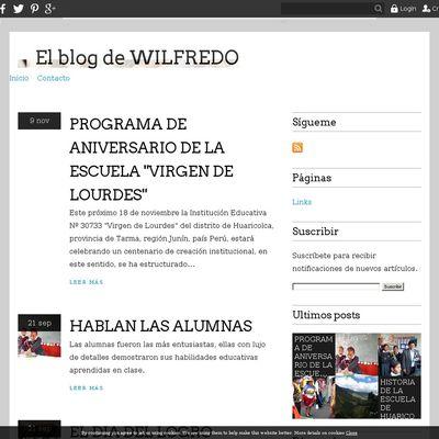 El blog de WILFREDO