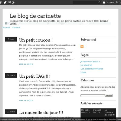 Le blog de carinette