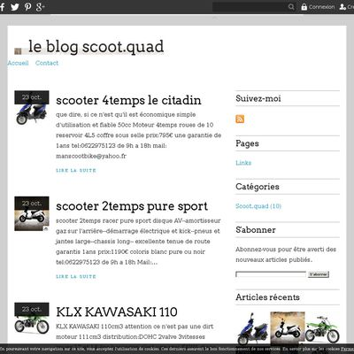 le blog scoot.quad