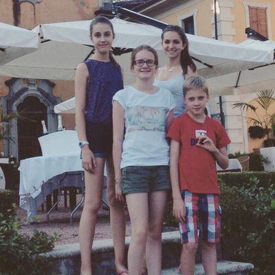les 4 jeunes voyageurs rémois en Italie