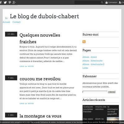 Le blog de dubois-chabert
