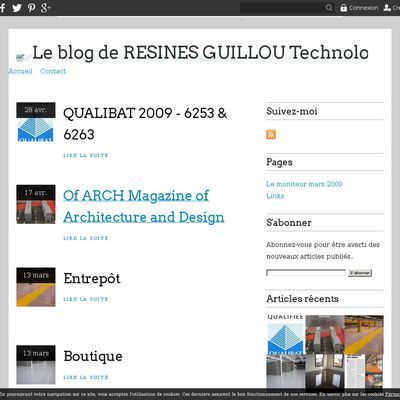 Le blog de RESINES GUILLOU Technologies