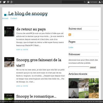 Le blog de snoopy