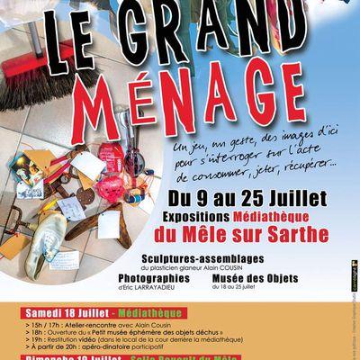 """Exposition """"Le Grand Ménage"""" au Mêle-sur Sarthe"""
