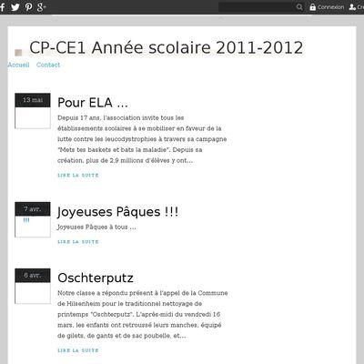 CP-CE1 Année scolaire 2011-2012