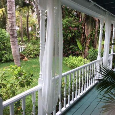 Porche et jardin de la maison, victoria park Fort lauderdale FL