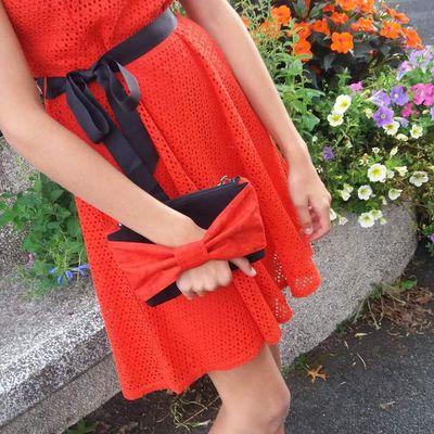 TUTORIEL : Nœud papillon intégré sur sac pochette