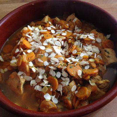 Tajine poulet abricots amandes au cookéo