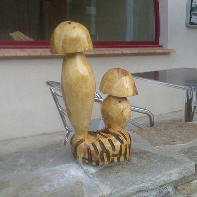 mes premieres sculptures a la tronconneuse