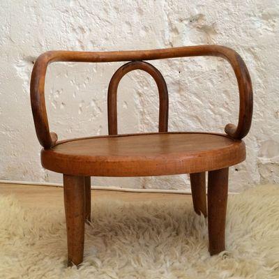 Ancienne petit chaise enfant vintage en bois type Thonet