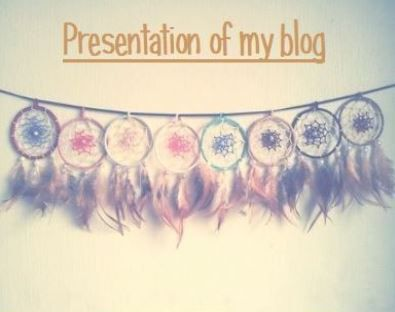 ~Presentation of my blog~